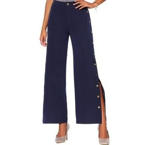 NWT {Romeo & Juliet} Couture Navy Gold Button Pant